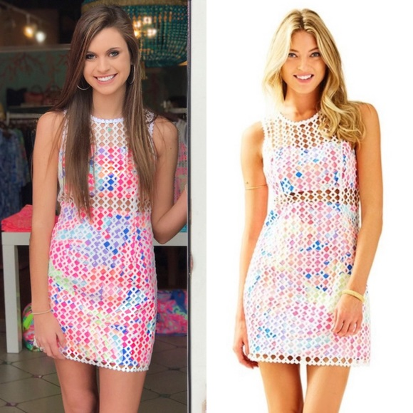 Lilly Pulitzer Dresses & Skirts - Lilly Pulitzer Crochet Lace Dee Shift Sheath Dress